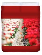 East And West A Dutch Tulip Story Duvet Cover