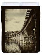 East Falls Rail Road Bridge Duvet Cover