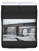 East Falls - The Frozen Schuylkill River Duvet Cover