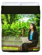 East Indian American College Student Duvet Cover