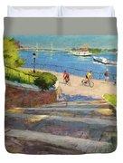 East River From Carl Schurz Park Duvet Cover