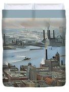 East River From Shelton Hotel Duvet Cover