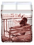 East River Lovers Duvet Cover