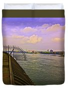 East River View Looking North Duvet Cover
