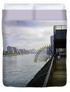 East River View Looking South Duvet Cover