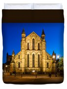 East Side Of Hexham Abbey At Night Duvet Cover