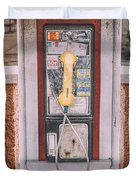 East Side Pay Phone Duvet Cover