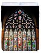 East Stained Glass Window Christ Church Cathedral 1 Duvet Cover
