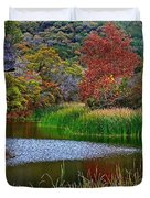 East Trail Pond At Lost Maples Duvet Cover