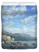 East View. A Seascape In The Vicinity Of Foros Mmxi Duvet Cover