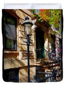East Village New York Townhouse Duvet Cover