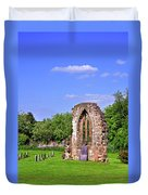 East Window Remains Of Old Church At Ticknall Duvet Cover