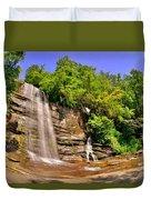 Eastatoe Falls/twin Falls 2 Duvet Cover