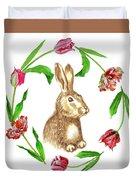 Easter Background Duvet Cover