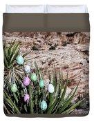 Easter Eggs On The Tree Duvet Cover