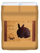 Easter Golden Egg And Chocolate Bunny Duvet Cover