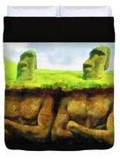 Easter Island Truth Duvet Cover