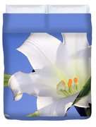 Easter Lily Back Lit By The Sun  Duvet Cover