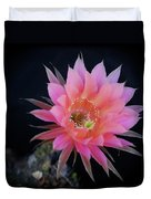 Easter Lily Cactus Duvet Cover
