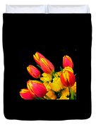 Easter Tulips And Roses Duvet Cover