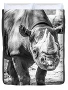 Eastern Black Rhinoceros Duvet Cover