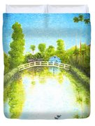 Eastern Canal Impression Duvet Cover