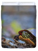 Eastern Painted Turtle Chrysemys Picta Duvet Cover