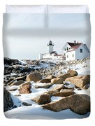 Eastern Point Light II Duvet Cover