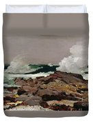 Eastern Point Duvet Cover by Winslow Homer