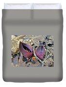 Eastern Skunk Cabbage Spathes - Symplocarpus Foetidus Duvet Cover