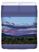 Eastern Sky At Sunset - Taos New Mexico Duvet Cover
