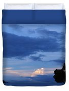 Eastern Sunset Over Hidden Lakes Duvet Cover