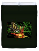 Eastern Tiger Swallow Tail Butterfly Duvet Cover