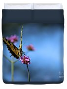 Eastern Tiger Swallowtail And Blue Sky Duvet Cover