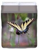 Eastern Tiger Swallowtail Butterfly In Garden 2016 Duvet Cover