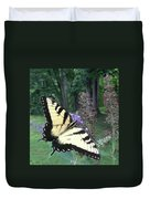 Eastern Tiger Swallowtail Sipping Nectar Duvet Cover