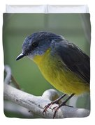 Eastern Yellow Robin Duvet Cover