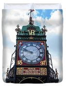 Eastgate Clock In Chester Duvet Cover