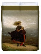 Eastman Johnson - The Girl I Left Behind Me Duvet Cover