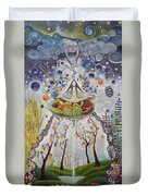 Eating And Spiritual Duvet Cover