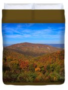 Eaton Hollow Overlook On Skyline Drive In Shenandoah National Park Duvet Cover