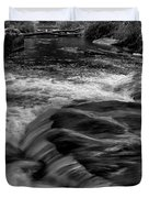 Eau Claire Dells Black And White Flow Duvet Cover