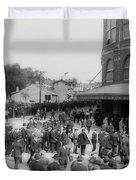 Ebbets Field Crowd 1920 Duvet Cover