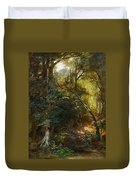Ebert, Carl 1821 Stuttgart - 1885   Inside A Forest. Duvet Cover