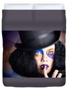 Eccentric Mad Fashion Hatter In Colourful Makeup Duvet Cover