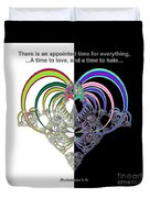 Ecclesiastes 3 A Time To Love And A Time To Hate Fractal Duvet Cover