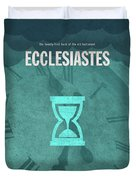 Ecclesiastes Books Of The Bible Series Old Testament Minimal Poster Art Number 21 Duvet Cover