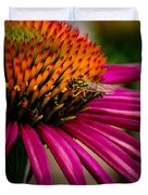 Echinacea And Syphrid Duvet Cover