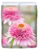 Echinacea Butterfly Kisses Duvet Cover