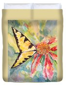 Echinacea Butterfly Duvet Cover